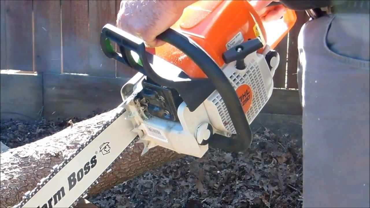 Stihl ms290 Farm Boss Stihl Chainsaw review and test cut