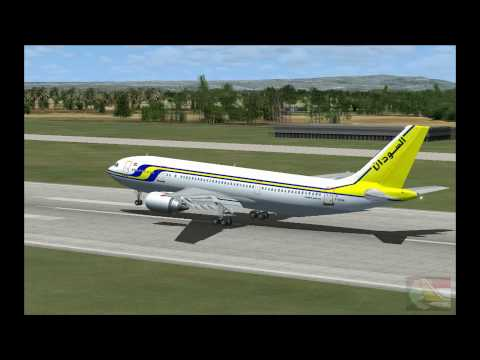 FSX 16. Sudan Airways Airbus A300-600, landing at Algiers International Airport  (Algeria)