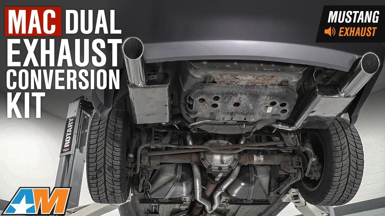 2005 2010 mustang v6 mac dual exhaust conversion kit sound clip install