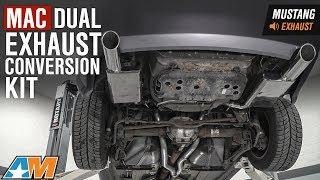 2005-2010 Mustang V6 MAC Dual Exhaust Conversion Kit Sound Clip & Install