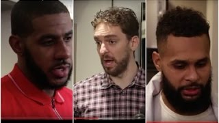 LaMarcus Aldridge, Pau Gasol & Patty Mills Interviews after Spurs win vs Chicago Bulls
