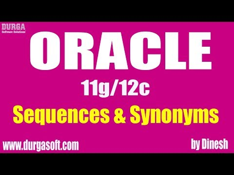Oracle Sequences and Synonyms