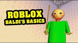 BALDI'S BASICS FLOOR IS LAVA ROBLOX - Basic's Basics Roblox Obby