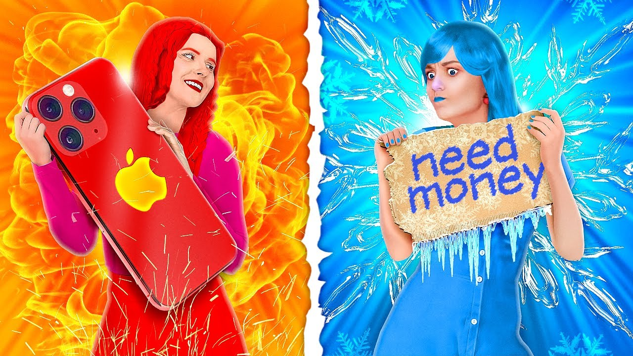 HOT VS COLD CHALLENGE!    Frozen VS Girl On Fire by 123 Go! GENIUS