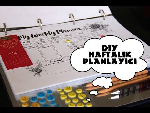 ... Yap Haftalık Planlayıcı (Ajanda) / DIY Weekly Planner - YouTube