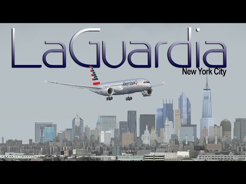 FSX [HD] - American Airlines | Boeing 787 | FICTIONAL Approach LaGuardia Airport