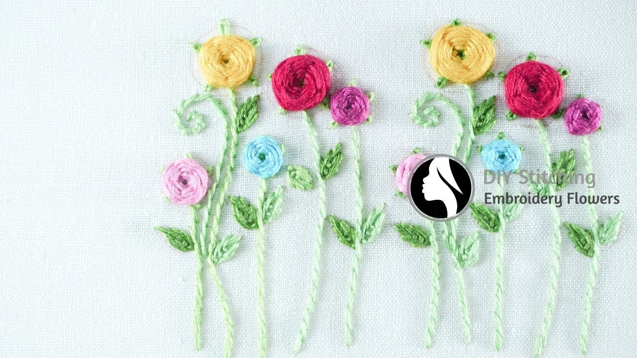 Hand Embroidery For Beginners Easy Embroidery Tutorial By Diy