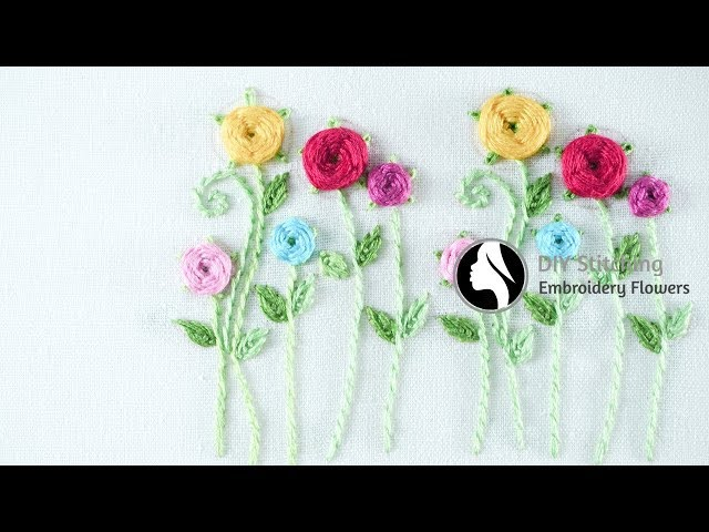 Hand Embroidery for Beginners | Easy Embroidery Tutorial by Diy Stitching - 21