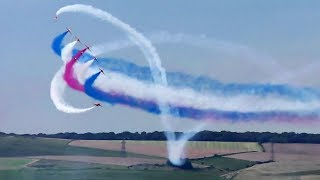 NEW Red Arrows filmed in 4K, from Verne Hill, Portland. Spectacular scene over Weymouth