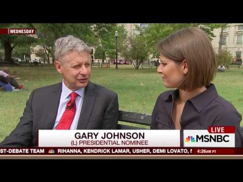 Gary Johnson sticks tongue out while talking during interview - WARNING: SUPER CRINGY