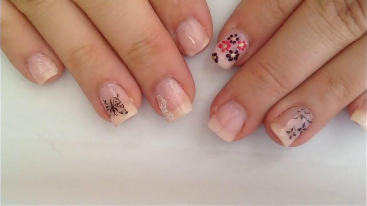 Blümchen Nägel lackieren / Blumen Naildesign selber machen - YouTube