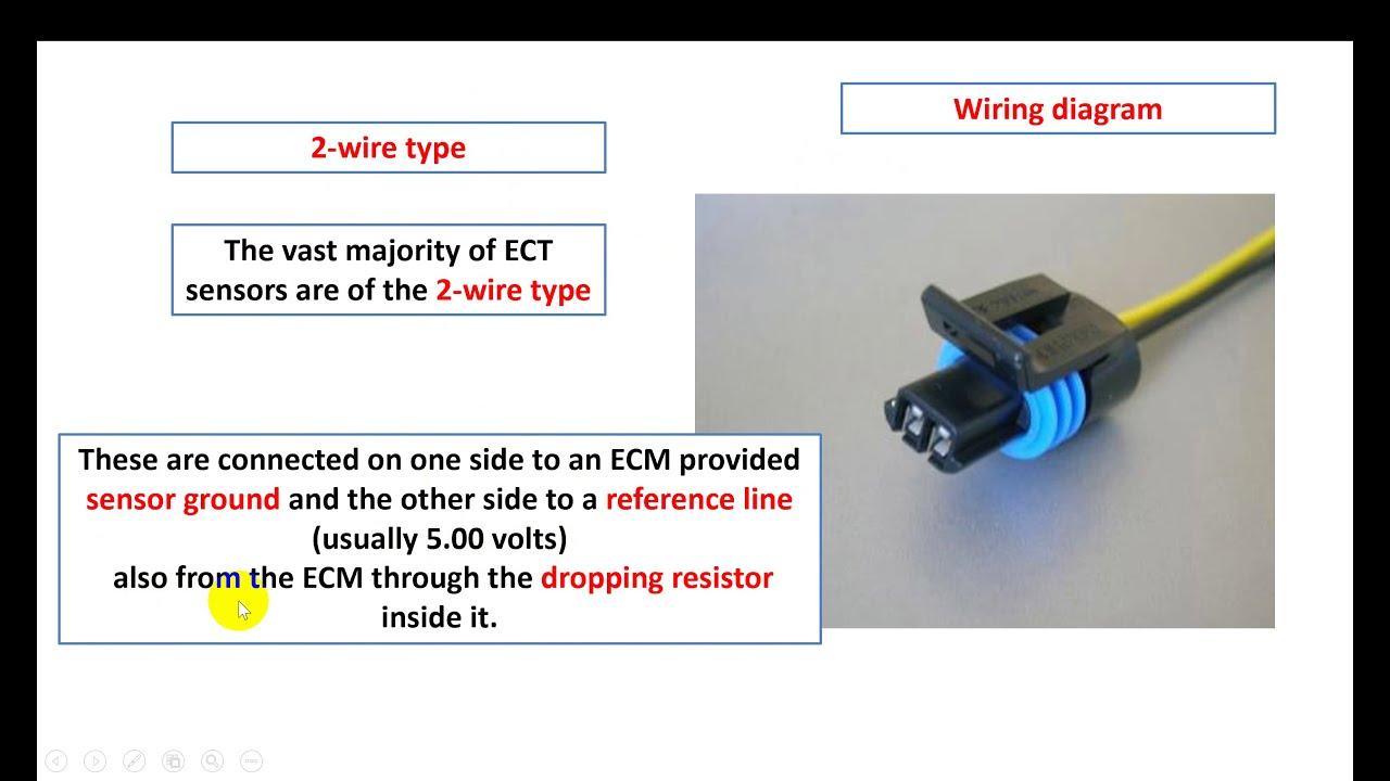 engine coolant temperature sensor (ECT) - YouTube | Temperature Wiring Diagram |  | YouTube