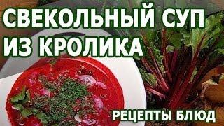 Рецепты блюд. Свекольный суп из кролика простой рецепт приготовления