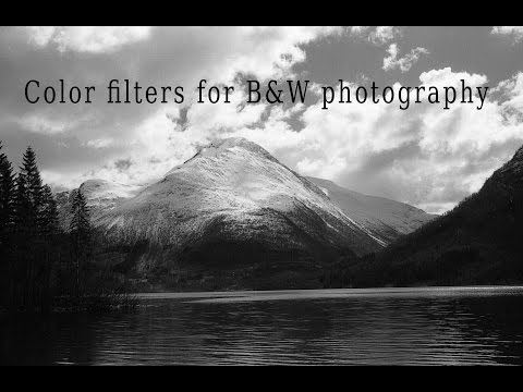 Color filters for B&W photography
