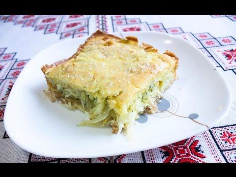Заливной пирог с капустой рецепт Быстрый пирог с капустой Заливний пиріг з капустою рецепт