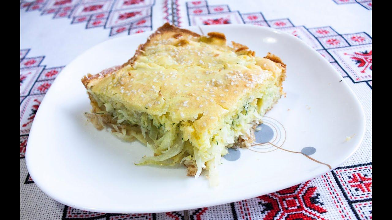 пирог заливной с капустой рецепт с фото