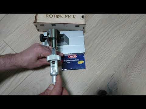 Взлом отмычками ABUS XP20S  Locksmith tool for cylinder ABUS XP20S
