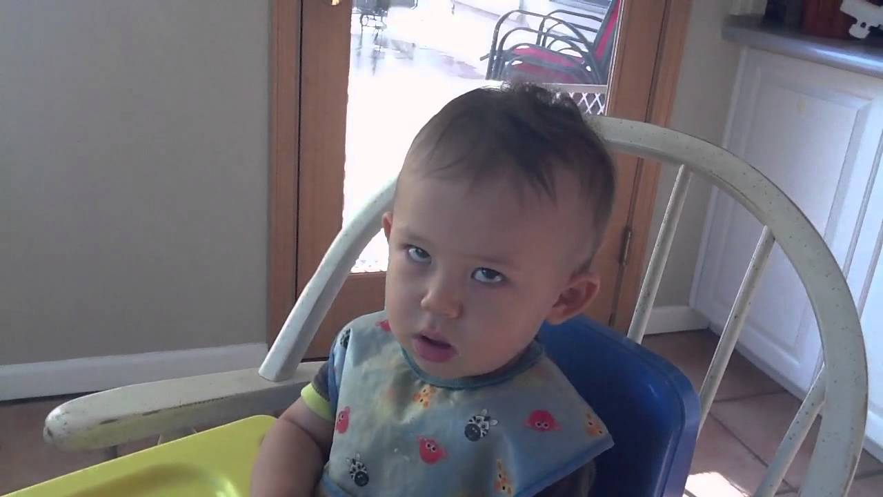 Baby rolling his eyes - YouTube