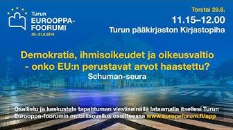 Eurooppa-foorumi 2019: Demokratia, ihmisoikeudet ja oikeusvaltio
