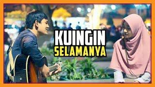 Gambar cover Wanita Cantik Sampai Baper di Gombalin + Nyanyiin Lagu [UNGU - KUINGIN SELAMANYA] Romantis