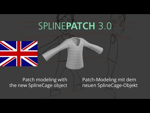 SplinePatch 3.0 - Patch-modeling with the new SplineCage object