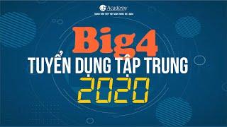 2020 | Lịch tuyển dụng Ngân hàng Big4 năm 2020