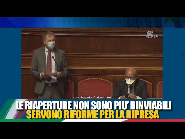 Il Sen. Calandrini interviene in dichiarazione di voto sulle misure connesse all'emergenza COVID-19