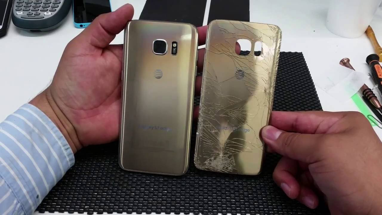 a76452b7fbd Samsung Galaxy S7 edge Remplazo de cristal de atras ( removing galaxy s7  edge back cover) - YouTube