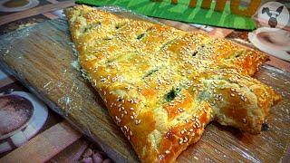 Рецепт к новому году Новогодняя ёлка из слоеного теста с сыром Канал Smachno