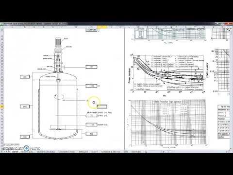 Agitator Design Spreadsheet | Updated Version V1.2 | Reactor Vessel