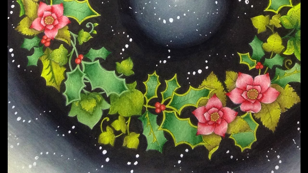 JOHANNA\'S CHRISTMAS - coloring with prismacolor pencils - YouTube