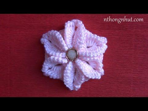 Hướng dẫn móc hoa lan: Mẫu móc hoa lan 2