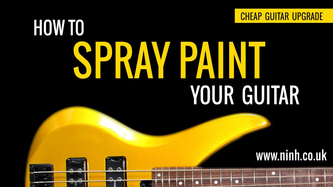 how to spray paint your guitar cheap guitar upgrade yamaha bass. Black Bedroom Furniture Sets. Home Design Ideas
