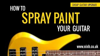 How to Spray Paint Your Guitar - Cheap Guitar Upgrade (Yamaha Bass) - EXPLAINED!