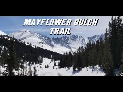 Mayflower Gulch Trail In The Snow