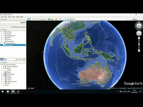Cara Memasukkan Koordinat di Google Earth.