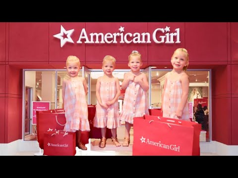 FIRST Time At The AMERICAN GIRL Store- Dad CAN'T Say NO 🙅🏻‍♂️| GARDNER QUAD SQUAD
