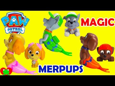 Paw Patrol Magic Merpups Saves Mermaids with Shopkins Surprises