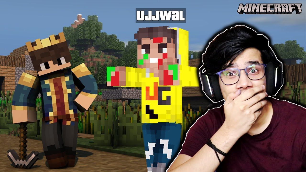 Beating Minecraft But YouTubers Are Mobs