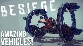 Most Amazing Vehicle Creations! - F-15 Strike Eagle, Hailfire Droid - Besiege Alpha Gameplay