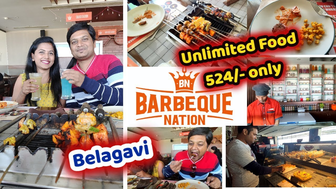 Download Barbeque Nation Restuarant in Belagavi Unlimited Veg and Non Food Best buffet Mr and Mrs Vinay