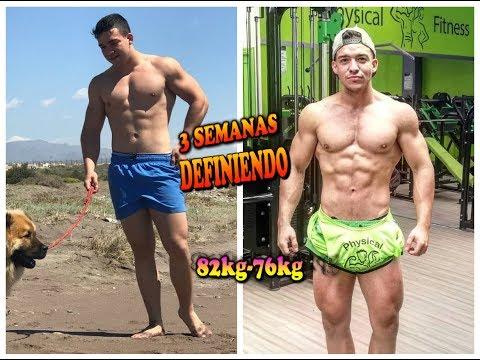 3 semanas de definición natural | 82-76 kg (1,75cm) | 17 años