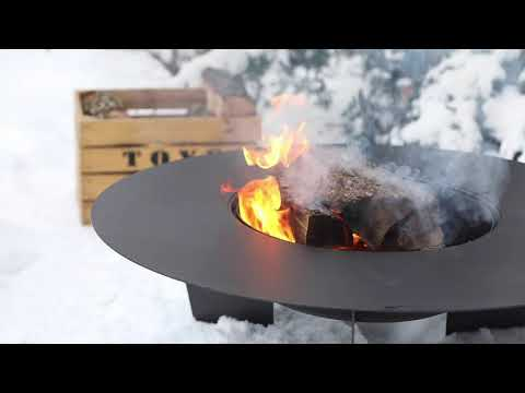 Brasero Barbecue En Fonte Olymp De Feu Du Jardin Youtube