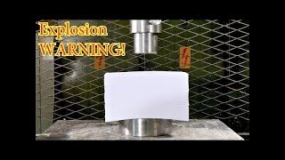 Crushing 1500 sheets of Paper with Hydraulic Press thumbnail