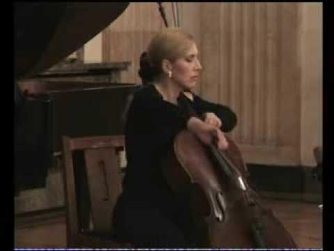 Shostakovich cello sonate  Op. 40  3. mov Sanja Jancic-cello, Aurelie Tremblay-piano