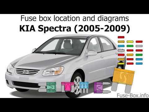 Fuse box location and diagrams: KIA Spectra (2005-2009) - YouTubeYouTube