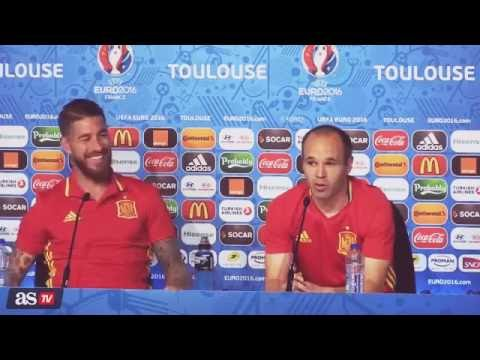 Funny Interview with Ramos and Iniesta Euro 2016