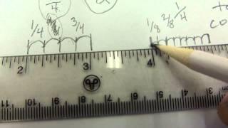 Imperial and Metric ruler measurement