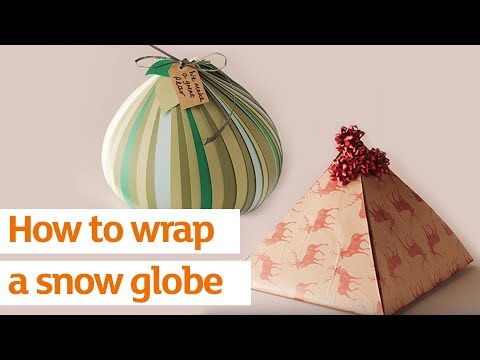 How to wrap a snow globe | How To | Sainsbury's