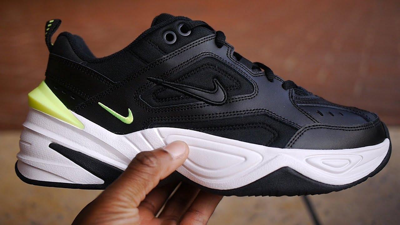 6a96c1e7d8667d Nike M2K Tekno Quick Look   On Feet (Black   Volt) - YouTube